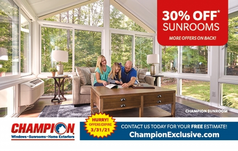 Champion Windows | Sunrooms | Home Exteriors