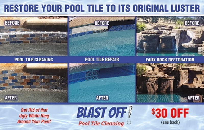 Blast Off Pool Tile Cleaning